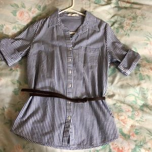 Used striped blouse in women